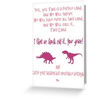 curse your sudden but inevitable betrayal, firefly, fuchsia Greeting Card