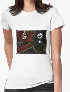 Nosferatu in a Corner COLORIZED Womens Fitted T-Shirt