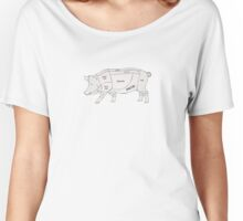 Parts of a Pig with Emphasis on Bacon Women's Relaxed Fit T-Shirt