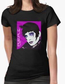 PURPLE Womens Fitted T-Shirt