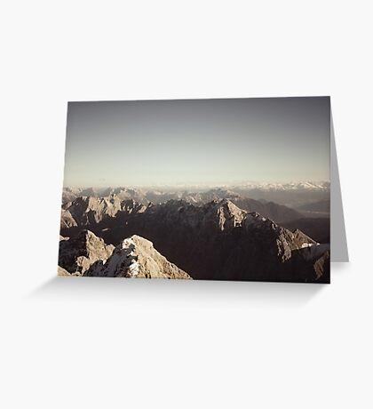 German mountain europe color photo Greeting Card