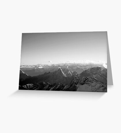 Mountain germany europe black and white photo Greeting Card
