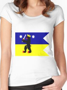 Flag of the Satakunta Region in Finland Women's Fitted Scoop T-Shirt