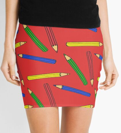 Pencil Crayon Skirt Red Style Rouge Dress School Mini Skirt