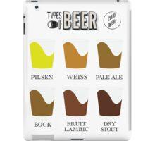 Types of Beer iPad Case/Skin