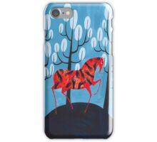 Smug red horse iPhone Case/Skin