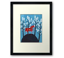 Smug red horse Framed Print