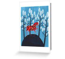 Smug red horse Greeting Card