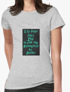 Lily Potter-Sea Green Womens Fitted T-Shirt
