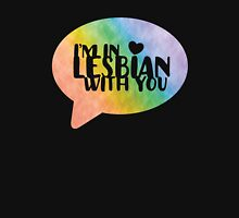 I'm In Lesbian With You Funny LGBT  Women's Fitted V-Neck T-Shirt