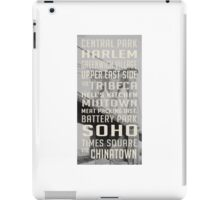Vintage subway stations signs in New York City Brooklyn Bridge iPad Case/Skin