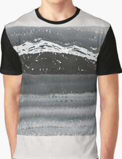 Rocky Winter Nocturne original painting Graphic T-Shirt