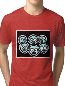 Fear of the Dark COLORIZED Tri-blend T-Shirt