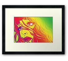 Bella Psychedelic Framed Print