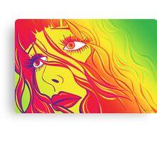Bella Psychedelic Canvas Print
