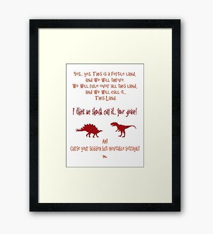 curse your sudden but inevitable betrayal, firefly, red Framed Print