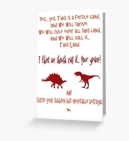 curse your sudden but inevitable betrayal, firefly, red Greeting Card