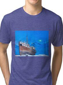 Frozen Fishing Trolley Tri-blend T-Shirt