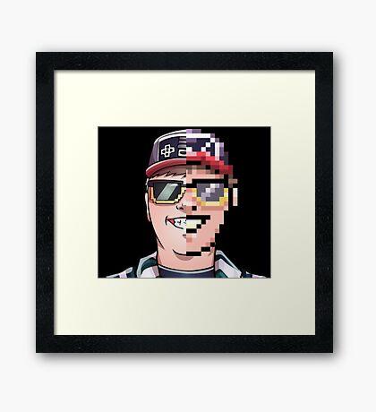 ARcaden Cartoon/8Bit. Framed Print