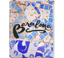 Barcelona Spain Gaudí Pattern Photography iPad Case/Skin