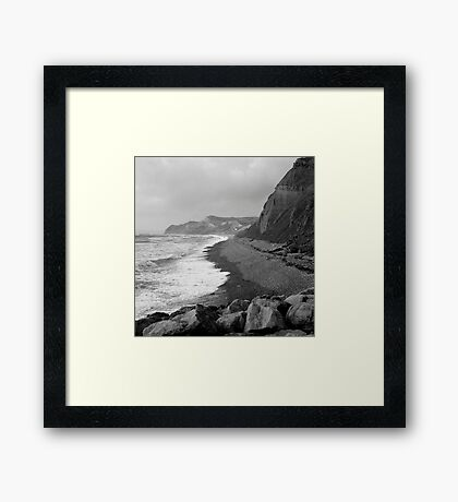 Jurassic Coast, Dorset - Stormy October Framed Print