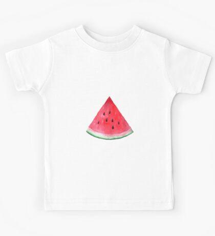 Juicy watermelon. Watercolor Tropical Fruit Kids Tee