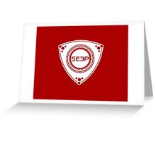SE3P Rotary design Greeting Card