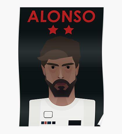 Fernando Alonso 2016 - Colour Poster