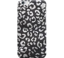 Black white hand paint leopard pattern chalkboard iPhone Case/Skin
