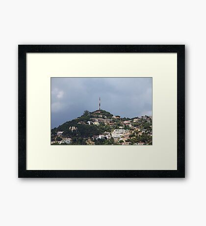 Small quiet town on the hillside Framed Print