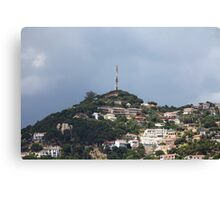 Small quiet town on the hillside Canvas Print