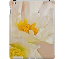 White Begonia Ruffles  iPad Case/Skin