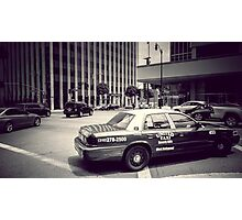 Beverly Hills - Taxi - Wilshire Boulevard Intersection Photographic Print