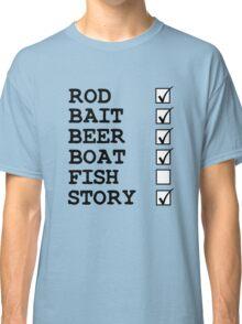 Fishing Checklist Classic T-Shirt
