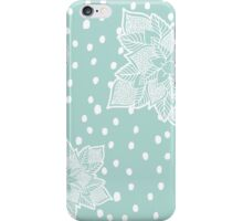 Holiday blue snowflake handdrawn mandala pattern iPhone Case/Skin