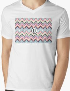 D Chevrony Mens V-Neck T-Shirt