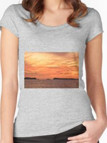 San Antonio Sunset Women's Fitted Scoop T-Shirt