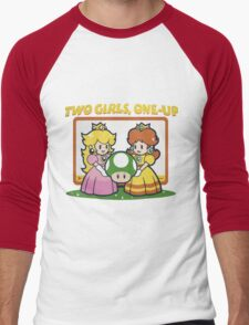 2 Girls, One-Up Men's Baseball ¾ T-Shirt