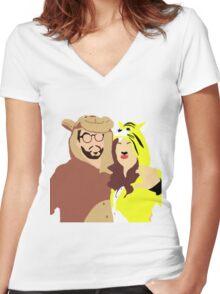 Miarren Women's Fitted V-Neck T-Shirt