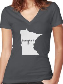 Minnesota Transplant MN  Women's Fitted V-Neck T-Shirt