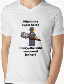 Henry..the mild mannered janitor by #fftw Mens V-Neck T-Shirt