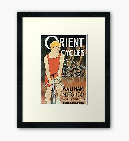 Edward Penfield bicycles ad Lead the leaders American golden age Framed Print
