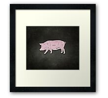 Parts of a Pig with Emphasis on Bacon Framed Print