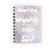 Charisma Uniqueness Nerve Talent Spiral Notebook