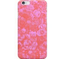 Pink Floral Pattern iPhone Case/Skin