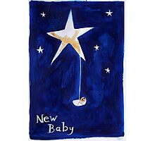 New Baby card design Photographic Print