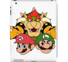 Mario Brothers vs Bowser Illustration iPad Case/Skin