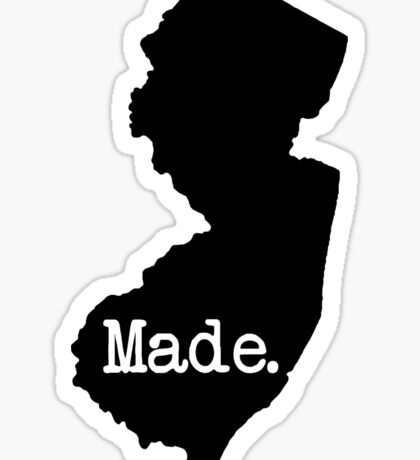New Jersey Made NJ Sticker