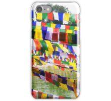 Flags at Bodh Gaya Mahabodhi Temple iPhone Case/Skin