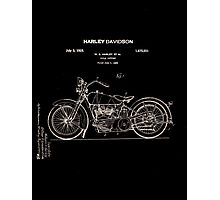 Harley Davidson Patent 1928 Photographic Print
